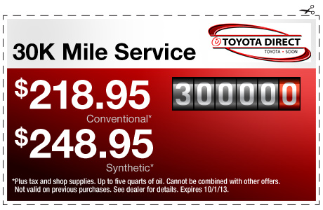 Toyota Synthetic Oil Change Coupon >> Toyota Service Center Coupons