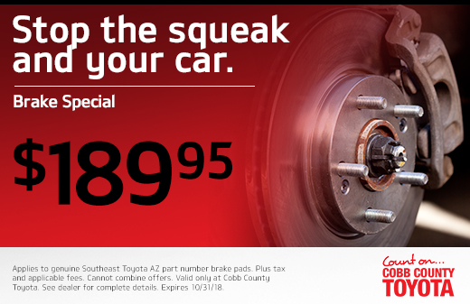 Elegant Brake Special Kennesaw GA. Nowu0027s Your Chance To Score Brake Service For  Only $189.95 At Cobb County Toyota ...
