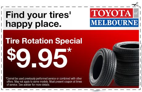 Tire Rotation Coupon >> Toyota Service Special Offers Melbourne Fl Serving Palm Bay