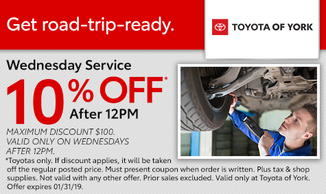 Wednesday Car Service Special York PA