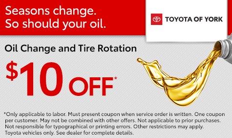 Oil Change and Tire Rotation Special York PA